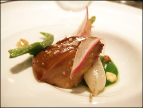 Manresa (Los Gatos) - Wood grilled foie gras w/ radish, ficoide glaciale