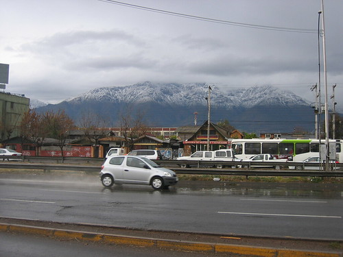 Snowfall on Andes mountains