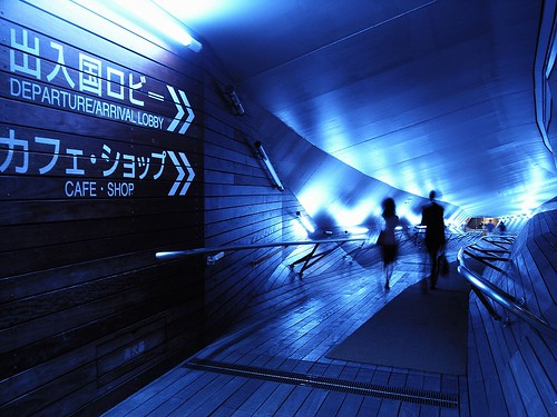 A blue passage