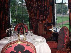 Rhubarb restaurant dining room at Edinburghs Prestonfield Hotel