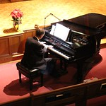 Piano performer at Chapel.