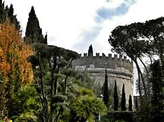 Appia Antica (silvia07(very busy)) Tags: appiaantica ceciliametella mausoleo alberi trees nuvole clouds