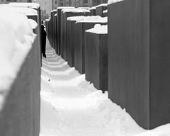 jewish memorial (Lisa McKinnon) Tags: snow berlin germany jewishmemorial