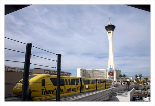 Stratosphere and Public transit system at Las Vegas