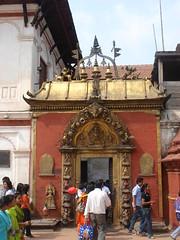 Golden Gate, Bhaktapur Darbar Squar, Happy New Year 2064 (jk10976) Tags: nepal temple asia goldengate kathmandu happynewyear bhaktapur nepali jk10976 darbarsquar jkjk976