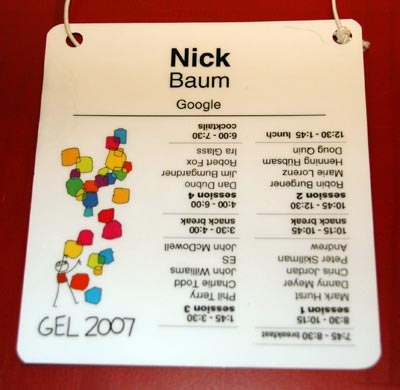 Gel conference pass