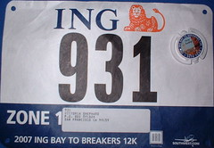 My bib for Bay to Breakers came today!