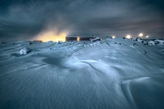 Ice and fire ... (asmundur) Tags: snow photography iceland bravo curves shapes steam bluelagoon 3xp fdrtools bratanesque reykjavikliving