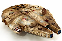 The Falcon Has Landed - Part I (cszar) Tags: topv111 toy starwars topv333 nikon d70 space plastic scifi nikkor 50mmf18d tabletop milleniumfalcon revell