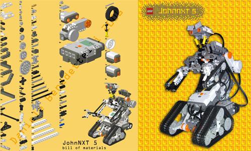 Johnny 5 hecho con piezas de LEGO