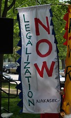 """Legalization Now"" Banner At The May..."