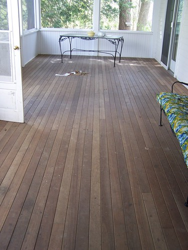 sunporch floor before