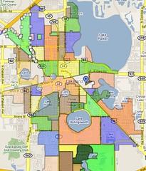 Lakeland Florida Neighborhood map