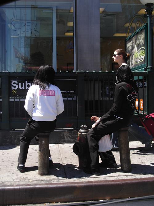 3 women near Delancey Street