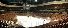 Empty Honda Center (BuckyHermit) Tags: california ca panorama usa us unitedstates chairs seats southerncalifornia orangecounty anaheim anaheimducks hondacenter