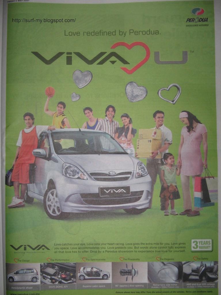 Perodua Viva Advertisement