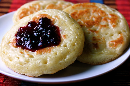 Crumpets with Jam