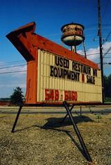 Used Restaur nt Equipment For Sale (MilkaWay) Tags: georgia watertower athens arrowsign athensga chasestreet clarkecounty