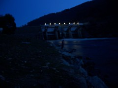 the gates atnight (hollis_corey) Tags: water fishing nsw trout spillway khancoban swampyplainsriver