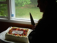Look out, Cheryl has a knife!