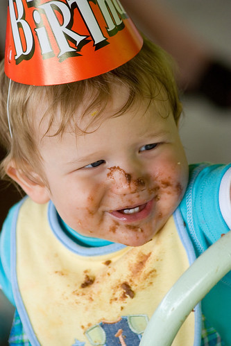 His cake-filled face is what you want to remember