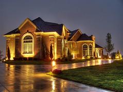 Canton House Two (noyesa) Tags: house big zoom kodak michigan suburbia suburb sprawl expensive hdr canton easyshare mcmansion z650 photomatix tonemapped