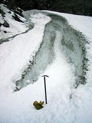 Big Four crevasse, 11-01-2003