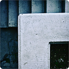 (scottintheway) Tags: abstract film geometric stairs photoshop square cement minimal rounded corners 500x500