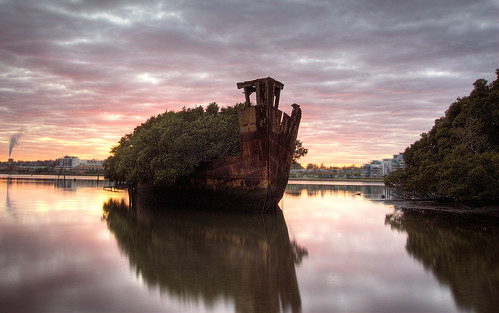 Homebush Shipwreck at Dawn