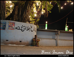 11 - Dont light here (UJMi) Tags: festival night lights shrine solitude events malang prayers islamabad urs jogi bariimam darveshi