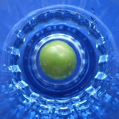 Olive in the glass (horstgeorg) Tags: blue abstract art kitchen glass reflections olive superhearts