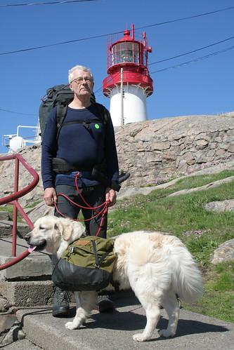 Gunnar og Najax klar ved Lindesnes fyr