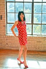 Pink Polka Dots 4 (Hannah McKnight) Tags: tgirl transgender transgirl model crossdress crossdresser stilettos