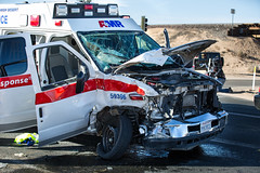 Ambulance hit Head On In Apple Valley-2 (gabrieldespinoza) Tags: car accident victorville hesperia pedestrian news vvng victorvalleynews