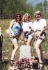 Erika, Brianna & Diann at Pearl De Vere's Grave