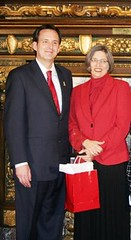Governor Pawlenty and Janet Green