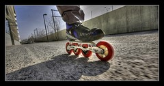 road with loose gravel surface (Toni_V) Tags: city topv111 d50 zurich inline rollerblading inlineskating gravel 2007 040507 sigma1020mm photomatix sihlcity hdrsingleraw toniv abigfave ©toniv