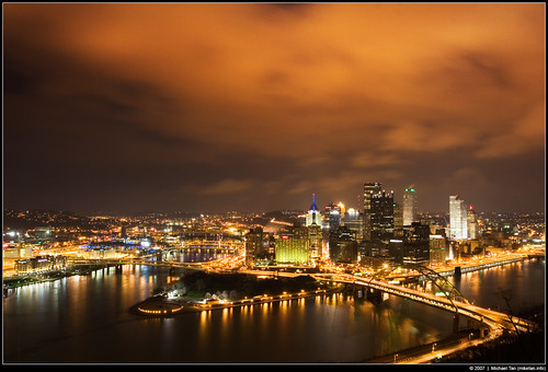 Pittsburgh @ night from Duquesne Incline