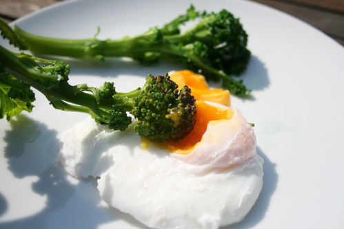Poached Egg and Purple Sprouting Broccoli