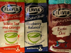 "flavia ""blueberry balance"" ""exotic chai"" ""white tea and orange"""