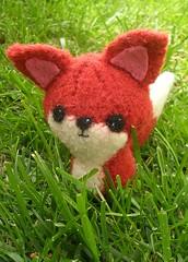 Backyard Critters - Fox (kathrynivy.com) Tags: felted toy knitting felting alice knit fox etsy amigurumi cascade220 backyardcritters craftyalien