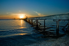 Jetty Sunset (lukaszek) Tags: sunset newcastle jetty australia nsw portstephens soldierspoint