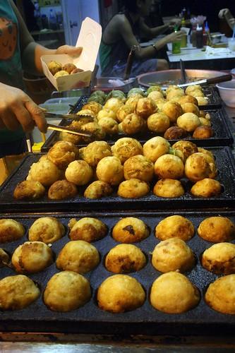 Takoyaki in their little pans!
