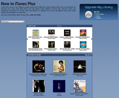 iTunes Plus now available