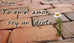 En el amor soy un idiota