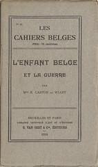 L'Enfant Belge et la Guerre (book cover)