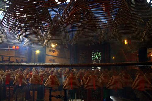 Incense at the Man Mo Temple