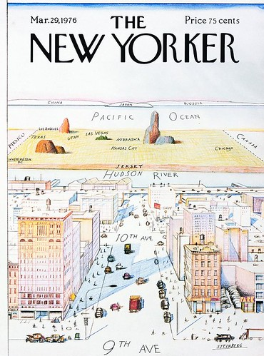 Famous Saul Steinberg New Yorker cover