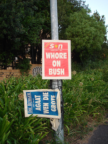 Headline Poster: Cape Son - Whore On Bush (Tuesday 3 April 2007)