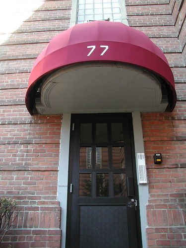 Entrance to building at Longhill Gardens. Photo by H Brandon